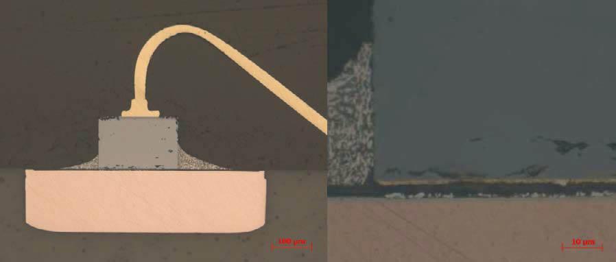 Светодиод под микроскопом