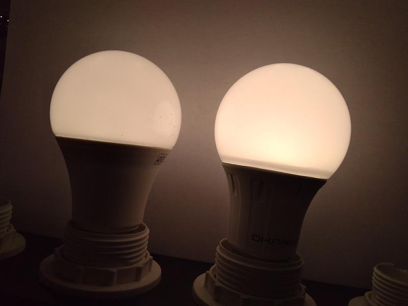 Светодиодные лампы у метро Озерки