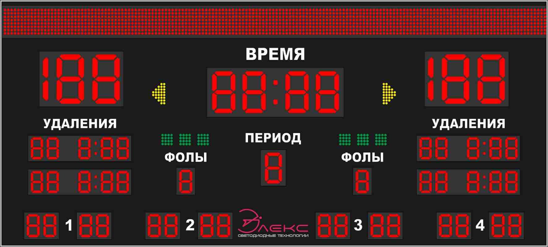 Комбинированное спортивное табло №2
