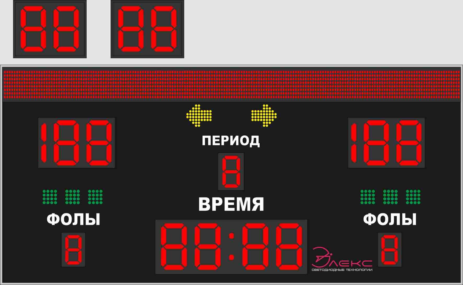 Комбинированное спортивное табло №3