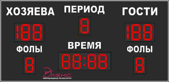 Универсальное спортивное табло №1