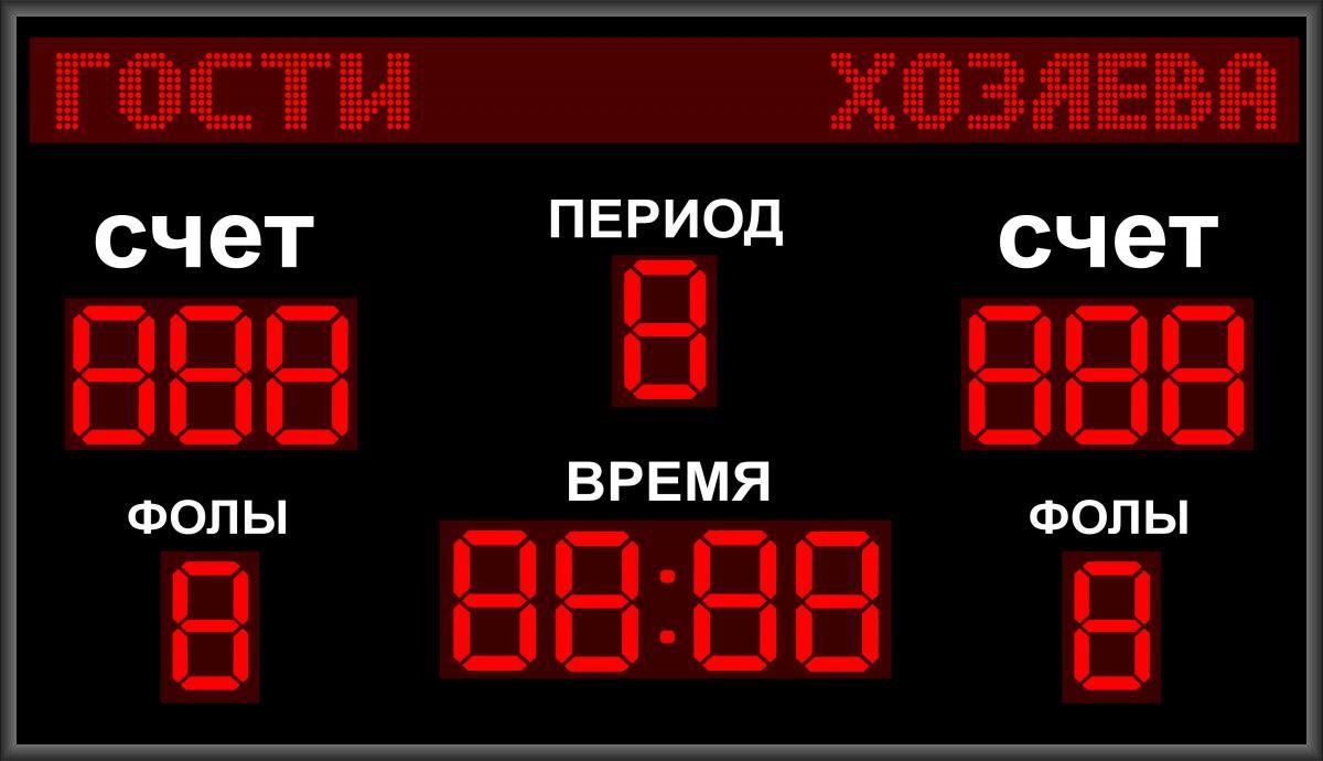 Универсальное спортивное табло №2