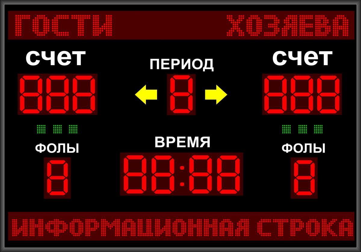 Универсальное спортивное табло №7