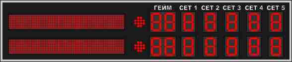 Табло для тенниса №3