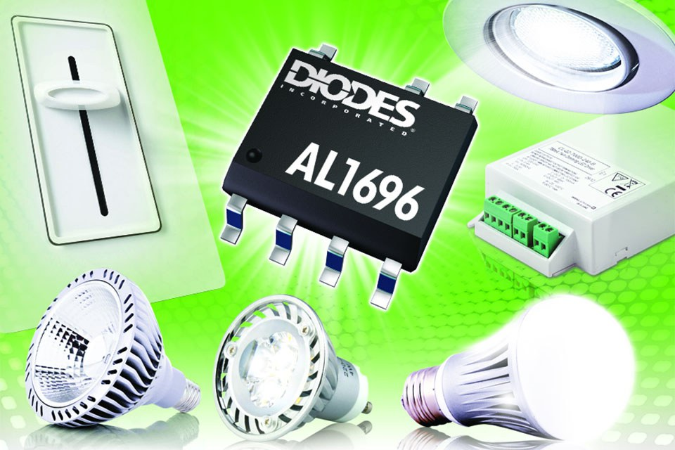 Экономичный светодиодный драйвер совместимый с тиристорными регуляторами от Diodes