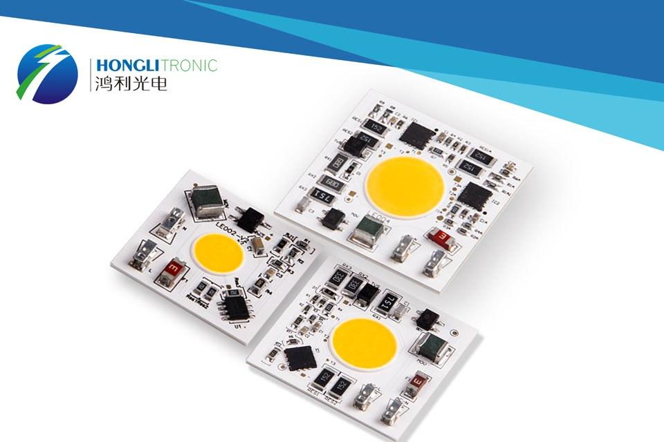 Мощные светодиодные излучатели HONGLITRONIC: 10/20/30 Вт AC COB