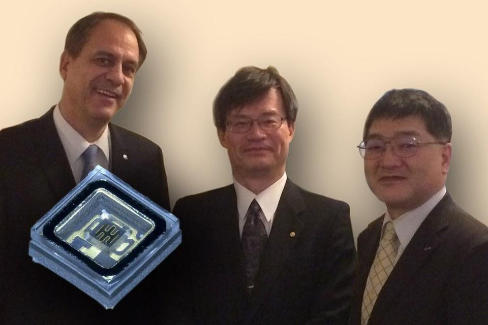 Первая презентация новых светодиодов с глубоким ультрафиолетом, которые были поддержаны профессорами Исаму Акасаки, Хироши Амано и Суджи Накамура на Electronica 2014 в Мюнхене
