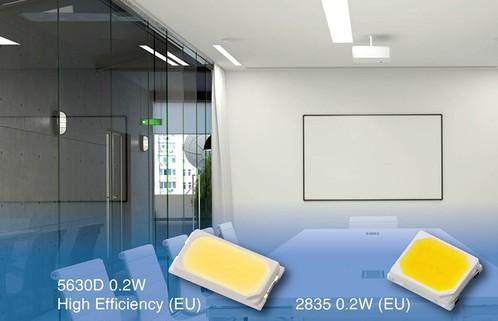 Новые светодиоды Everlight Electronics для использования в трубчатых лампах