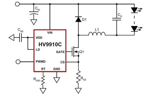 Светодиодный драйвер HV9910C Supertex