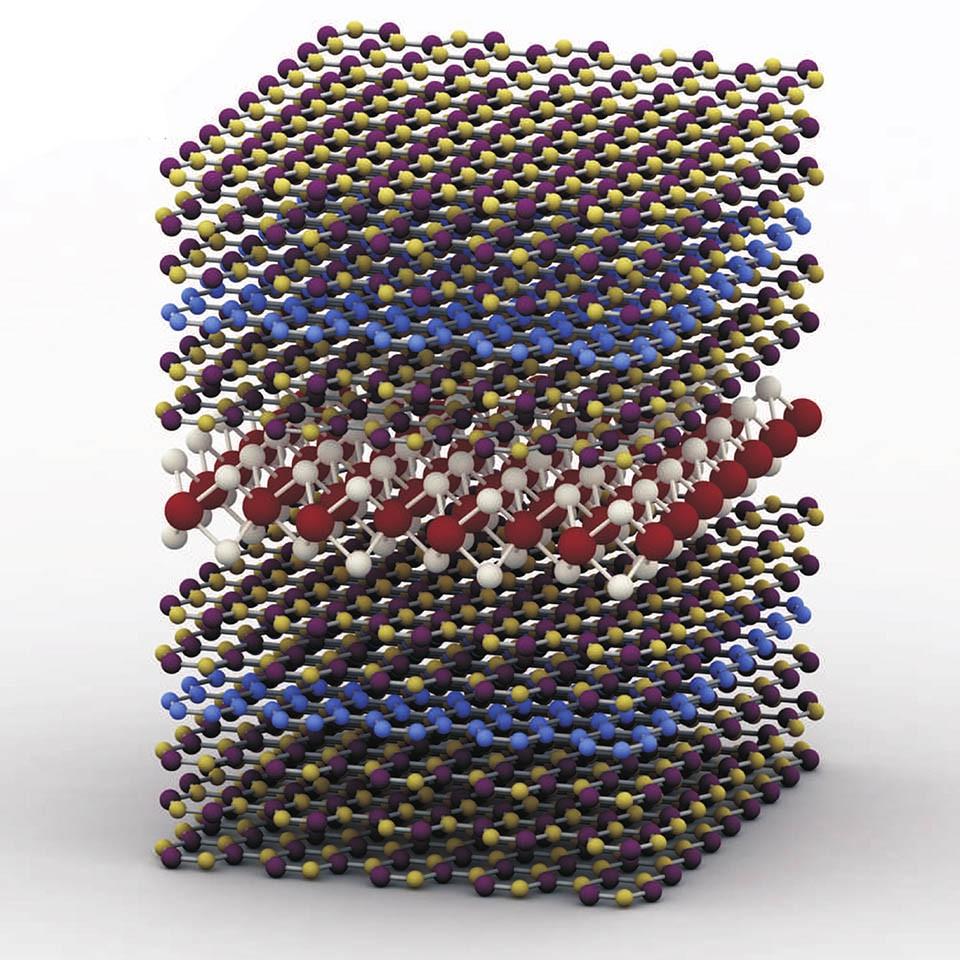 Схема гетероструктуры на основе графена светодиодов зонной структуры