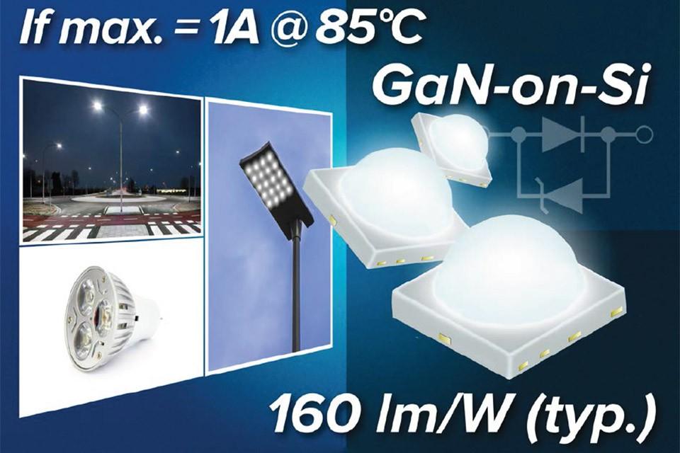 Светодиоды GaN-на-Si серии TL1L4 с питанием до 1А от Toshiba