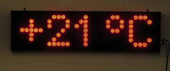 Табло термометр