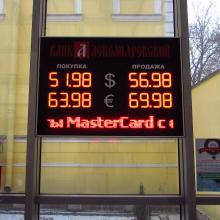 Табло валют в витрину