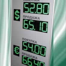 Табло курсов валют 4