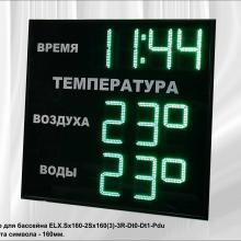 Часы термометр для бассейна