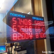 Табло курсов валюты 1