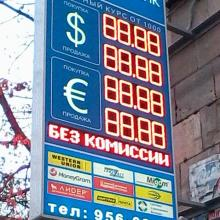 Табло курсов валют консоль