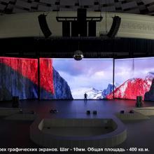 Три RGB телевизора для сцены