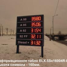 Табло стоимости бензина