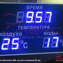 Табло термометр для бассейна