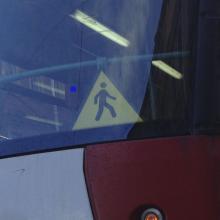 Мигающая табличка осторожно пешеходы