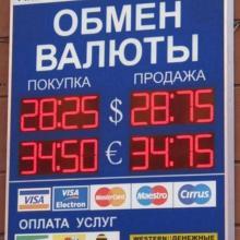 Табло валют на обменный пункт