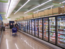 Светодиодное освещение в супермаркете