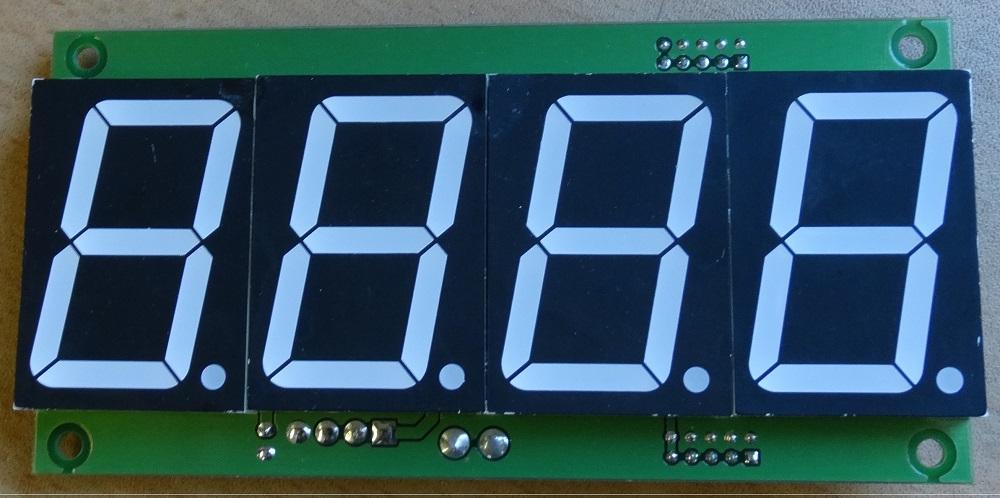 Четырёхразрядный индикатор высотой 38 мм