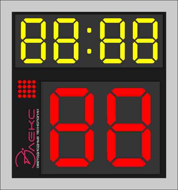 Табло времени атаки, устройство 24 секунд
