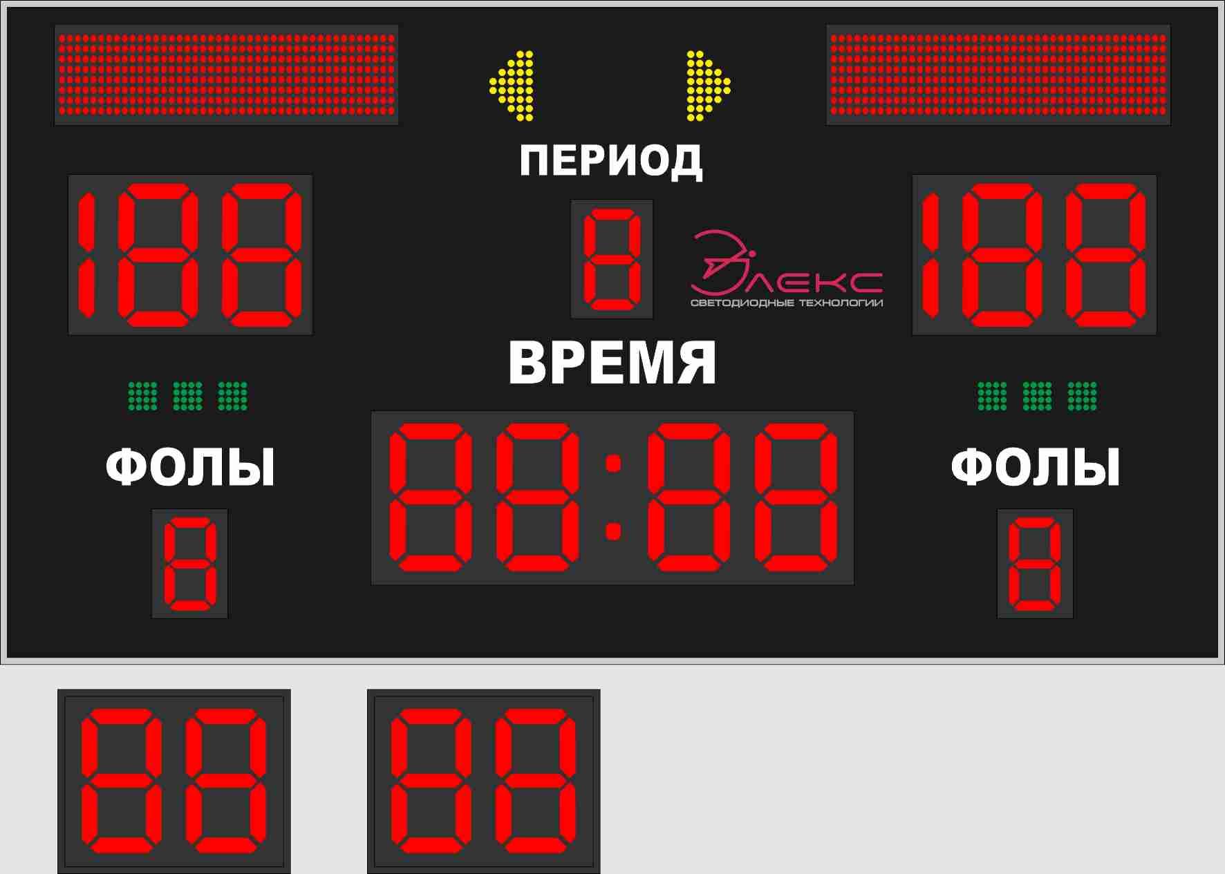 Комбинированное спортивное табло №4