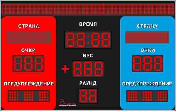 Комбинированное спортивное табло №5