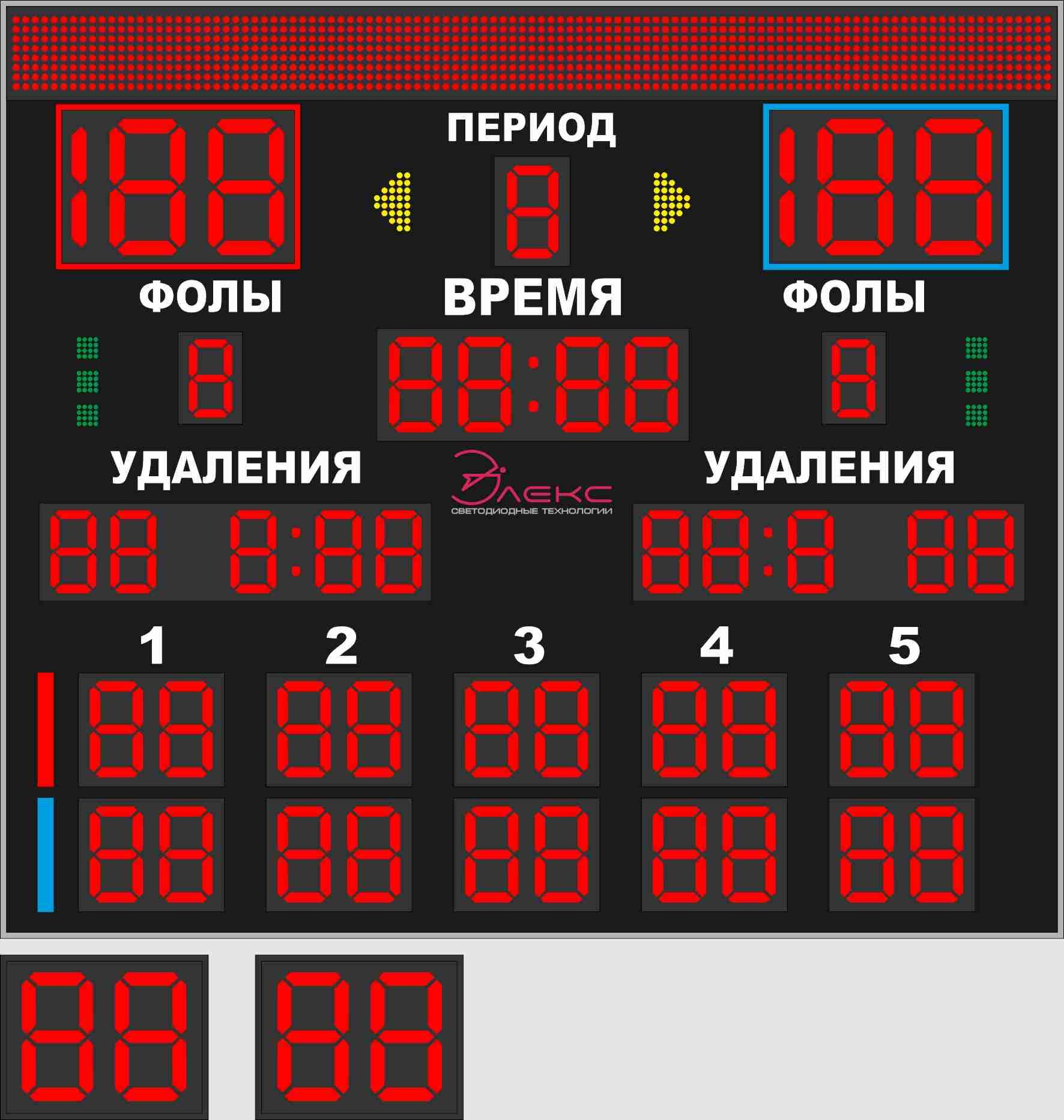 Комбинированное спортивное табло №8