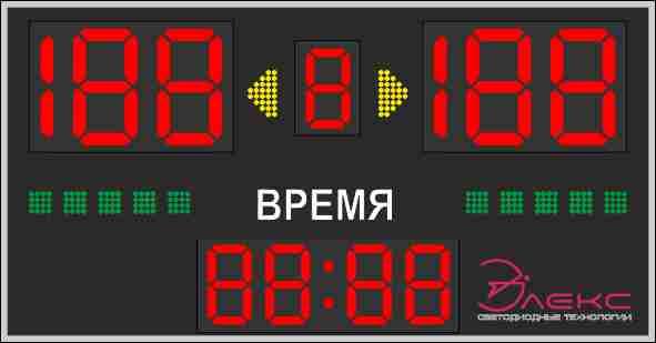 Универсальное спортивное табло №3