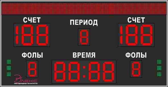 Универсальное спортивное табло №6