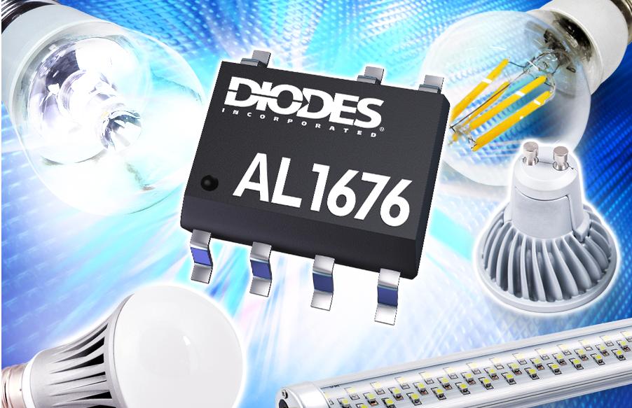 Светодиодный понижающий драйвер с корректором мощности AL1676 от Diodes