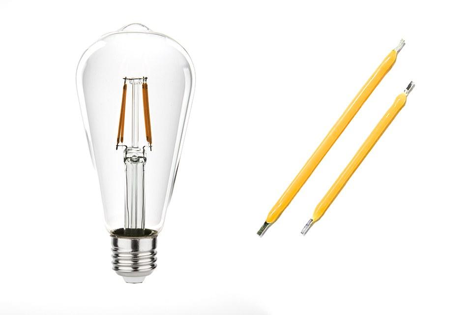 SSC решила, что настало время для светодиодных нитей и начала массовое производство запатентованных светодиодных нитей 38 и 50 мм