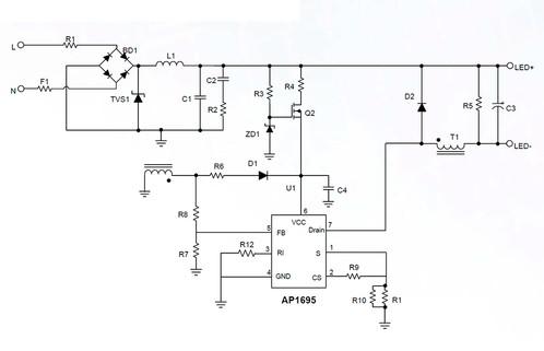 Светодиодный драйвер AP1695 Diodes Incorporated