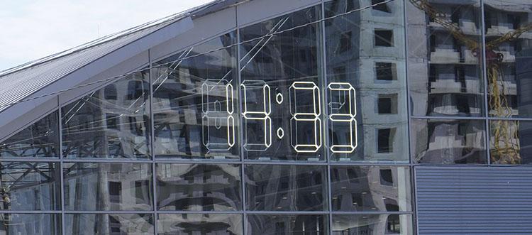 Часы термометр