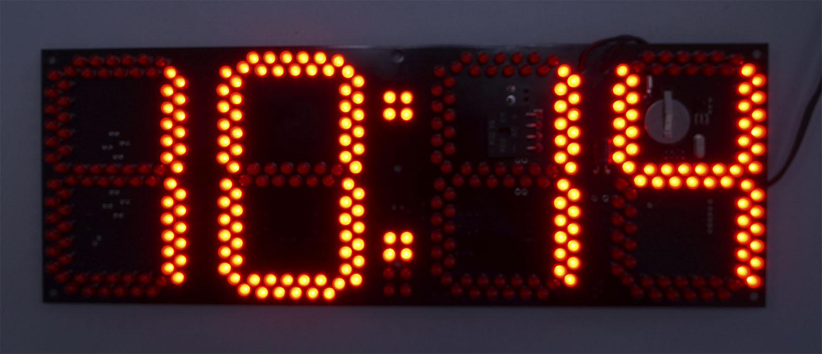 Цифровые часы сегментные