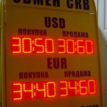 Табло курсов валюты штендер