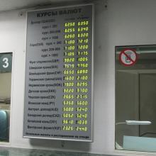 Многострочное табло курсов