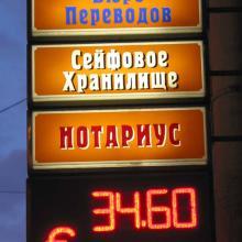 Табло валют для обменного пункта