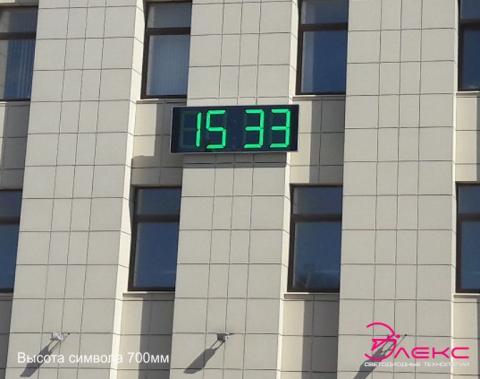 Фасадные цифровые часы